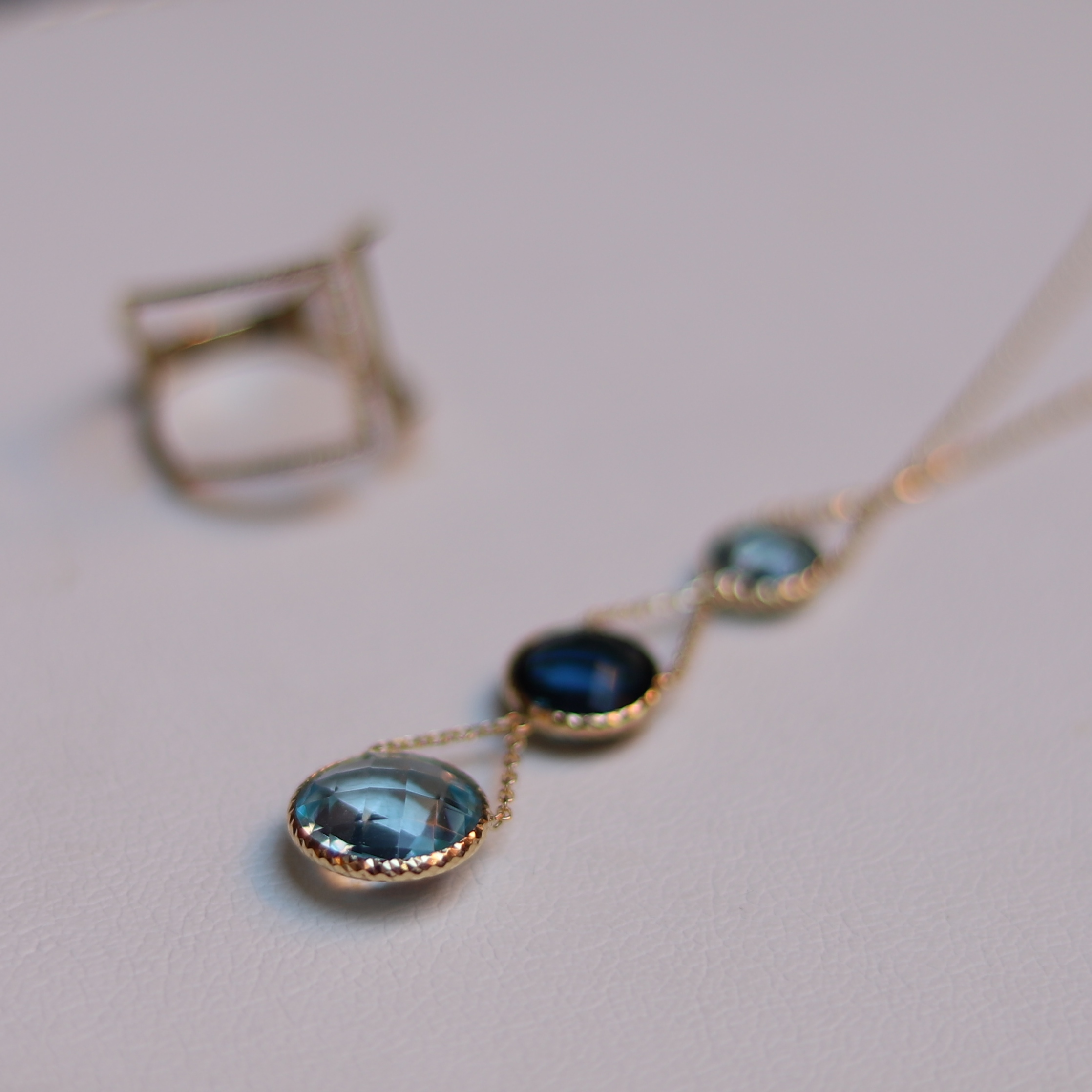 Zoccai / topaz necklace , Heroomtage / ring